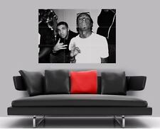 "LIL WAYNE DRAKE BORDERLESS MOSAIC TILE WALL POSTER 35"" x 25"" HIP HOP RAP"