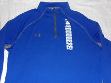 MLB LA Los Angeles Dodgers Mens Under Armour Loose Heatgear L/S Sz Med Shirt NWT