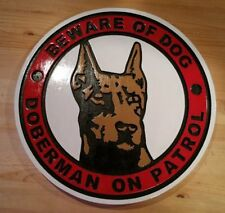 Beware of Dog Doberman Custom Sign 3D routed carved wood sign Custom