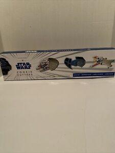 Star Wars Cookie Cutters Set of 4 Millennium Falcon Tie Fighter Williams Sonoma