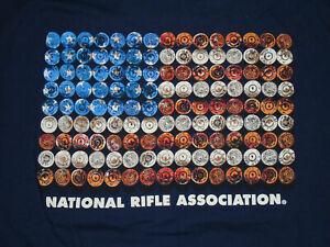 NRA National Rifle Association T-Shirt USA Flag GUN Ammo 2nd Ammendment NEW XL