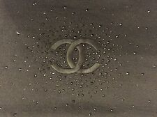 PRE-OWNED CHANEL CASHMERE/SILK BLACK SCARF