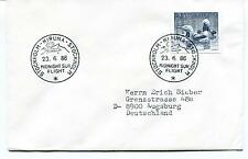 1986 Kiruna Stockholm Midnight Sun Flight Sverige Augsburg Polar Antarctic Cover
