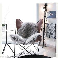 Gray Sheepskin Rug Wonderful Genuine Natural Soft & long Wool