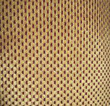 """Vintage Kravet- Red/Gold Hobdot Chenille Frieze- 24"""" Square Upholstery Sample"""