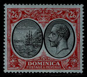 DOMINICA GV SG85, 2s 6d black & red/blue, LH MINT. Cat £29.