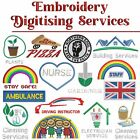 Embroidery Services ONLY No Product Included Logo Charges Front, Back, Sleeve