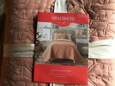 NEW Opalhouse Magenta Garment Washed Quilt peach  Twin/ XL Twin x long
