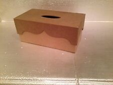 Unfinished Wood Tissue Box For Crafting