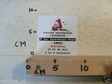 STICKER,DECAL STICHTING SPAKENBURGSE EVENEMENTEN 1995 25 JAAR ZEILBOOT