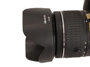 Lens Hood for HB-N106 Nikon D3300 D5500 AF-P 18-55mm f/3.5-5.6G VR - UK SELLER