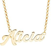 925 Sterling Silver Personalized Name Alicia Necklace Pendant
