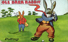Golf Comic in The Popular Series # 511. Ole Brer Rabbit Putting.