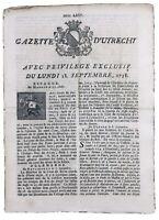 Bataille de Zorndorf 1758 Zicker Bazdo Dernitzel Allemagne Gazette d'Utrecht