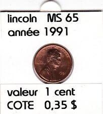 e2 )pieces de 1 cent  1991       lincoln