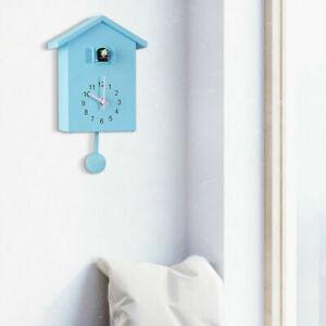 Chalet-Style Cuckoo Clock Wall Clock- Movement Minimalist Modern Design UK