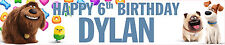 2 x SECRET LIFE OF PETS PERSONALISED BIRTHDAY BANNERS
