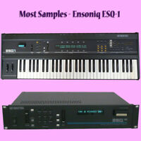 Most SAMPLES: Ensoniq ESQ-1, ESQ-M, SQ-80