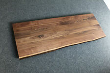 Tischplatte Platte Nussbaum Massiv Holz mit Baumkante Leimholz Brett Echtholz