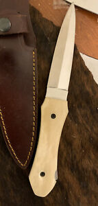 Doc Holliday Dagger  Bone Handle Knife Ijk Knives  Old West 440 Stainless Steel