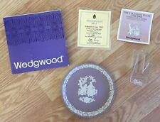 "Wedgwood Plate Jasperware 1982 My Valentine Day Lilac Lavender 6 1/2"" + stand"