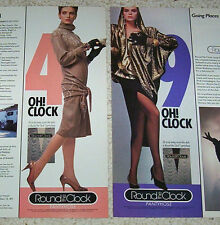 1986 ad - Round the Clock pantyhose hosiery SEXY GIRLS legs vintage print ADVERT