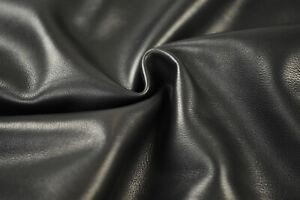 Beautiful Soft Calfskin Nappa - Fine grain Calf leather 0.8 mm   BLACK