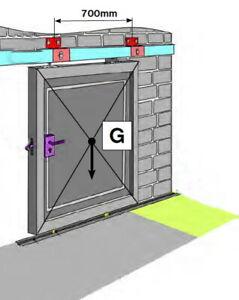 Schiebetor Hallentor Tore bis 250kg Verzinkt Oberhalter Set Profil 57x67mm L3m