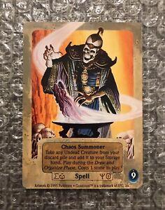 Chaos Summoner x1 (Unplayed) - RARE 1995 Guardians CCG TCG Promotional Card