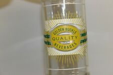 Golden Buckle Beverages Soda Bottle Rockwell City, Iowa 1956