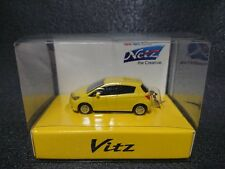 TOYOTA Vitz  Yaris LED Light Keychain Yellow Pull Back Mini Car