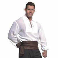 Adult Men's Medieval Renaissance Victorian Halloween Costume Pirate Shirt 2XL