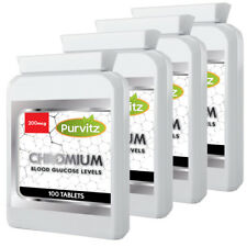 Chromium Picolinate 200mcg 400 Tablets Appetite Suppressant UK Manufactured