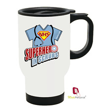 PERSONALISED Travel Thermal Mug 14oz - Nurse Doctor NHS Hero Gift- Any Name