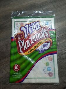 Kleenex Viva Christmas Ornaments Disposable Placemats 2004 Package of 16 New NOS