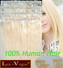 40Pcs Full Head 3M Tape-in Extensions 100% Human Hair Remy #24 (Golden Blond)