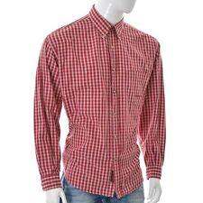 Marlboro Classics Hombre Exterior Camisa Informal Talla 54 Rojo de Cuadros Largo
