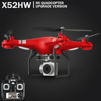 X52HW Altitude Hold 0.3MP HD Camera Quadcopter RC Drone WiFi FPV Live Helicopter