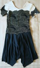 Euc Black Gold Sparkly Ice Skating / Dance Dress Size Child L