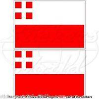"""UTRECHT Province Flag Netherlands, Nederland Dutch Decals, Stickers 3"""" (75mm) x2"""