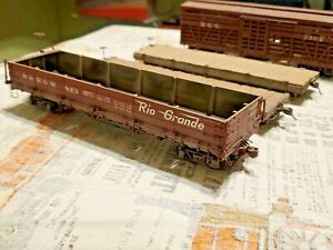 On3 narrow gauge freight cars 4 Craftsman Built super detailed & weathered