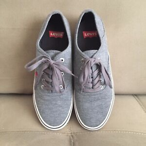 Levi's Comfort Casual Skate Shoes Gray White US Men's Size 9