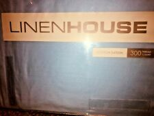 LINEN HOUSE - KING SINGLE Bed Pleated Valance - Sky Blue - Cotton Sateen/Percale