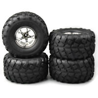 Rubber 4Pcs 1:10 Bigfoot Tires 12mm Hex wheel for Monster Truck RC Model Car