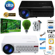 Full HD LED Beamer 1080p 5000 Lumen HDMI USB 3D TV VGA PS4 Heimkino Projektor DE