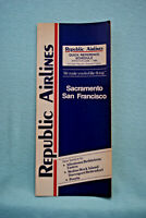Republic Airlines Schedule - 6/1/86 - Sacramento, San Francisco