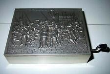 Alte REUGE Spieldose Spieluhr Handkurbel Metall / Holz 13 x 10cm