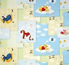 POOH FABRIC baby fabric COTTON FABRIC SLEEPY BLOCK CP43382 by the yard New