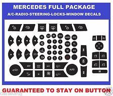 2007-2014 MERCEDES BENZ RADIO AC POWER WINDOW BUTTON STEERING AND LOCKS DECALS