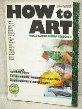 HOW TO ART 3 Art Illustration Magazine CHIHO SAITO Book KD92*